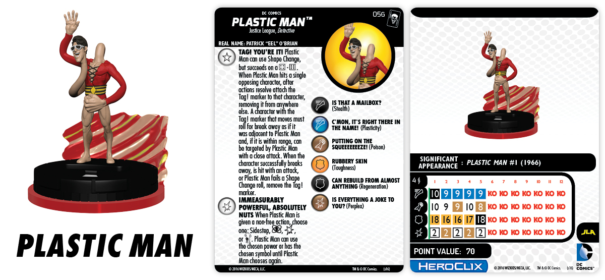 DC HeroClix Justice League & Justice Society Thanksgiving - Plastic Man
