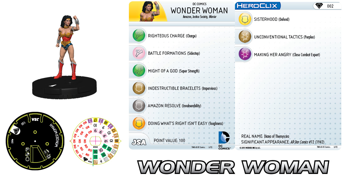 DC HeroClix Justice League & Justice Society Thanksgiving - Wonder Woman