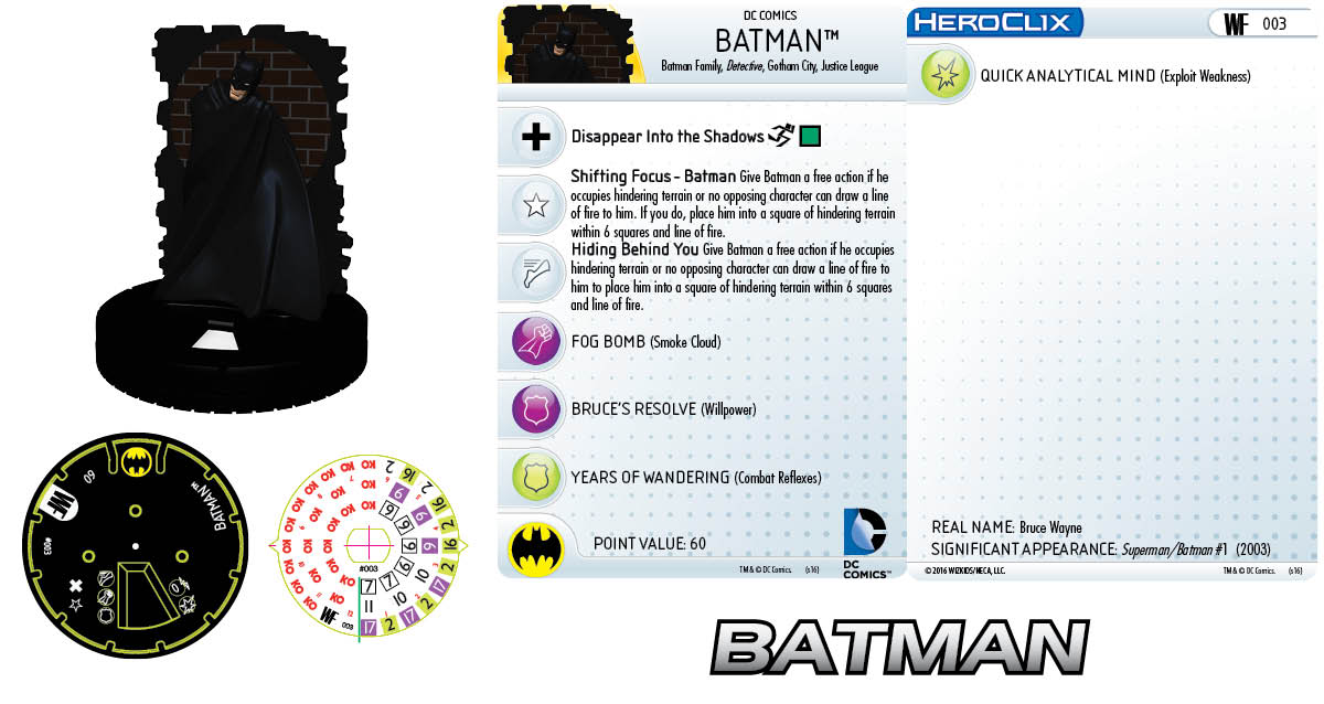 DC HeroClix Justice League & Justice Society Thanksgiving - Batman