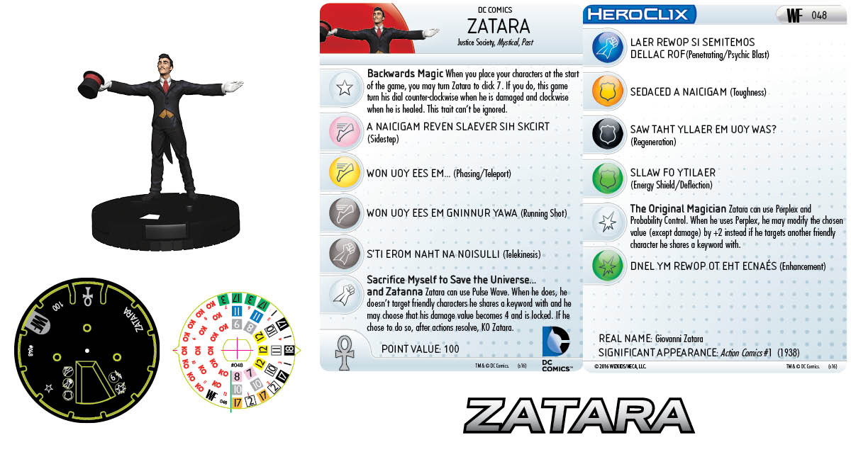 DC HeroClix Justice League & Justice Society Thanksgiving - Zatara
