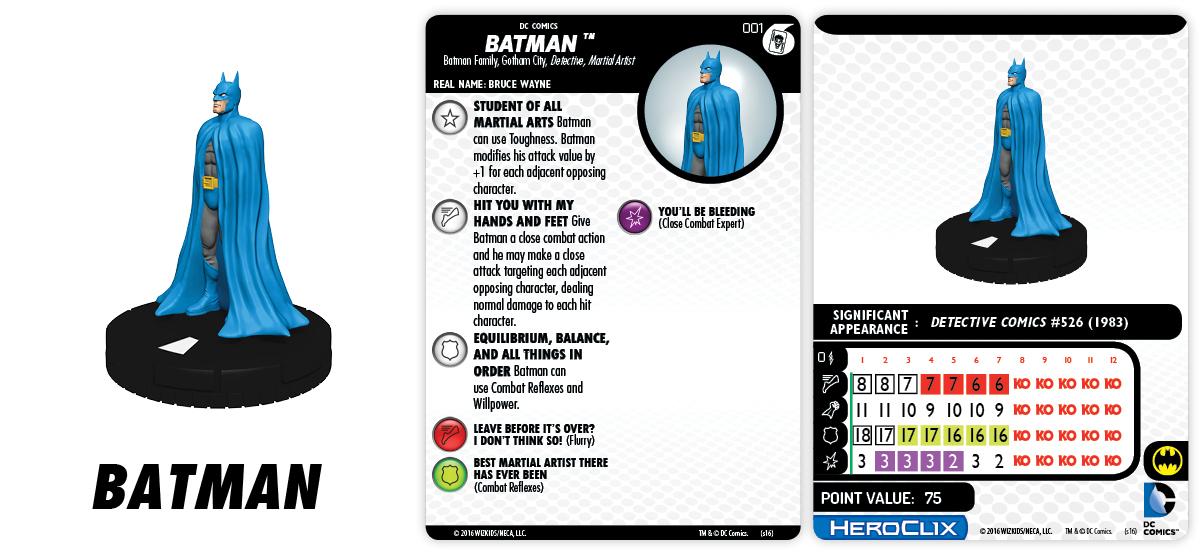DC HeroClix: Batman and His Greatest Foes Fast Forces Part II- Batman