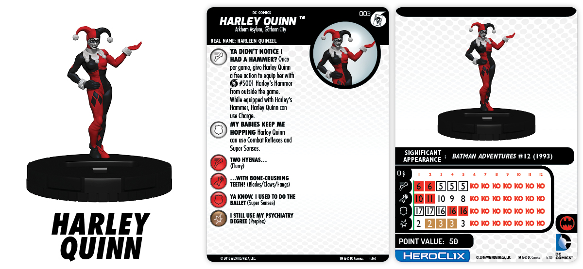 DC HeroClix: Batman and His Greatest Foes Fast Forces Part II - Harley Quinn