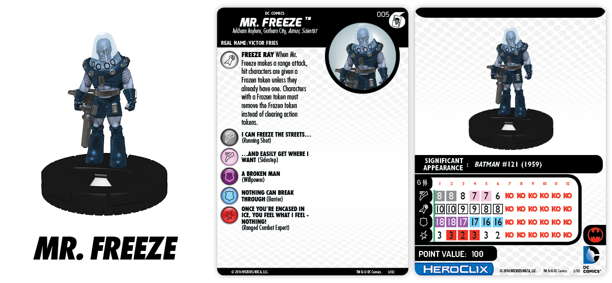 DC HeroClix: The Joker's Wild!- Fast Forces Part I- Mr. Freeze