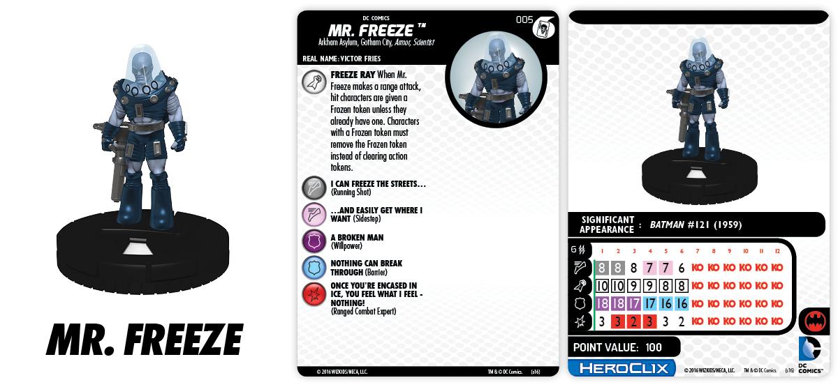 DC HeroClix: The Joker's Wild!- Fast Forces Part I- Mr. Freeze