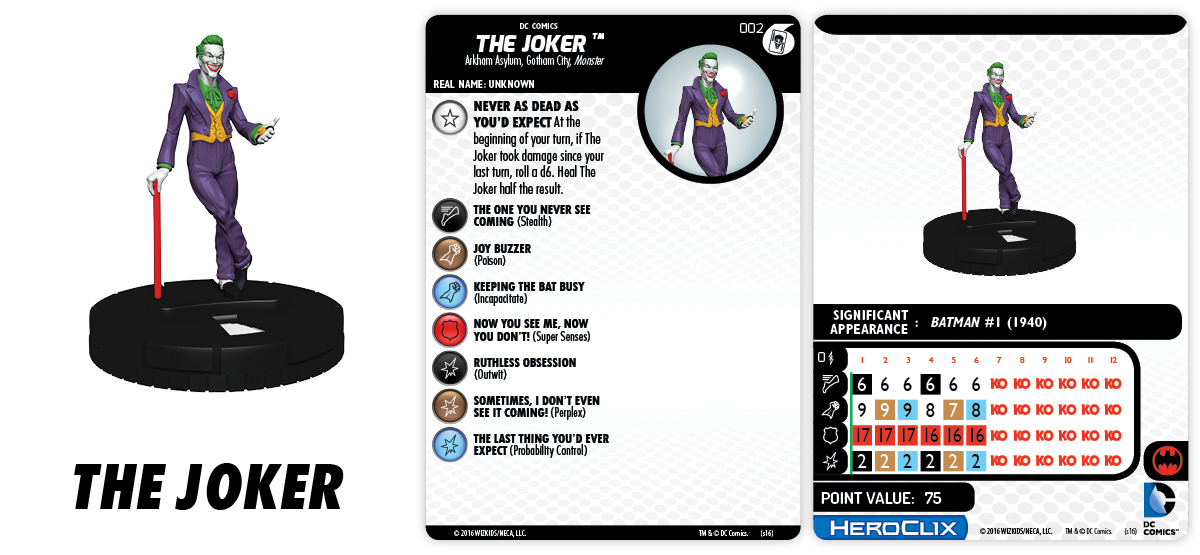 DC HeroClix: Batman and His Greatest Foes Fast Forces Part II - The Joker