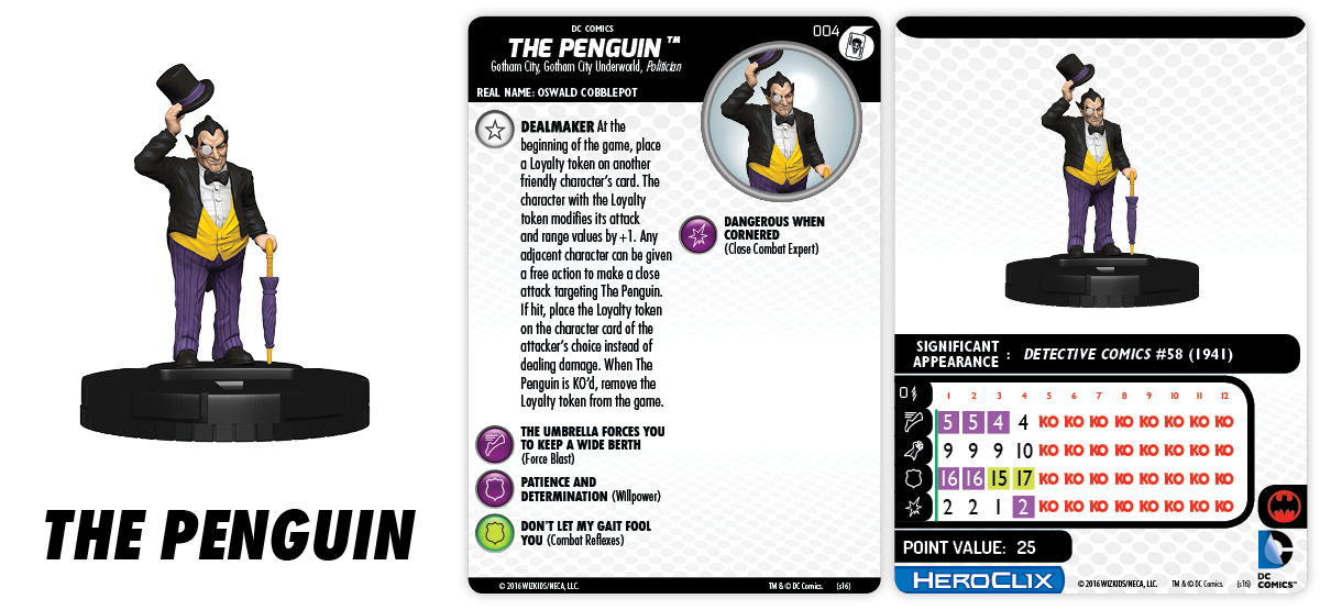 DC HeroClix: The Joker's Wild!- Fast Forces Part I - The Penguin