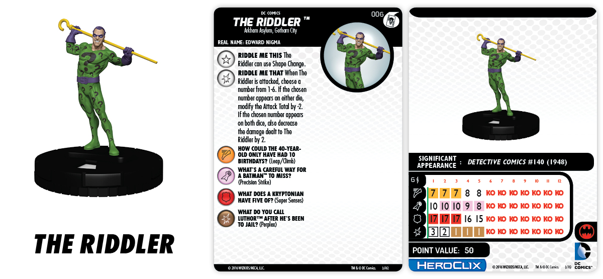 DC HeroClix: The Joker's Wild!- Fast Forces Part I - The Riddler
