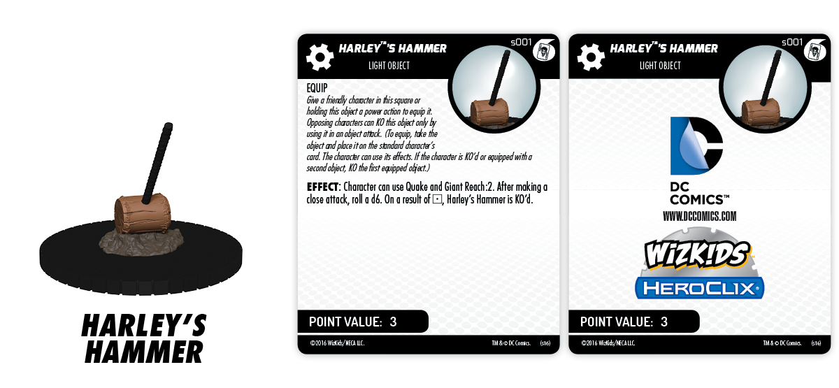 DC HeroClix: Batman and His Greatest Foes Fast Forces Part II - Harley's Hammer