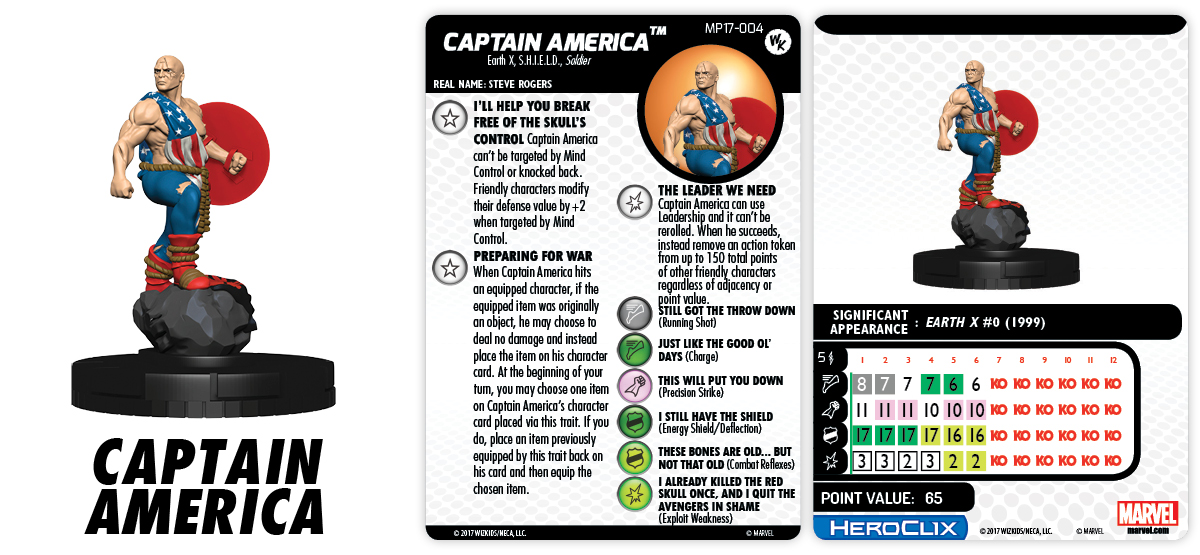 Marvel HeroClix: Captain America Con Exclusive