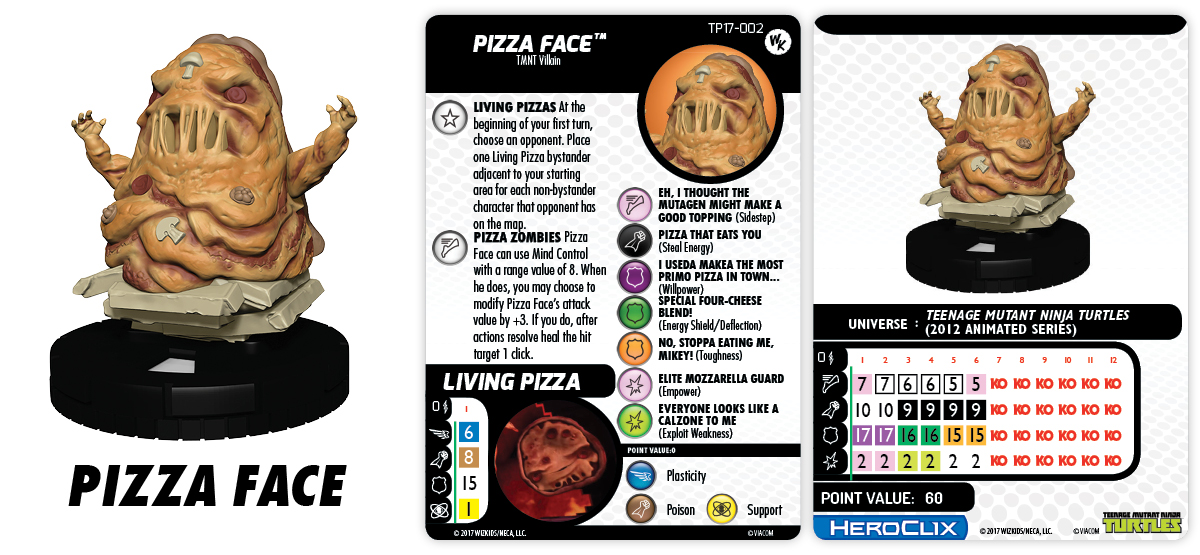 TMNT HeroClix: Pizza Face Con Exclusive