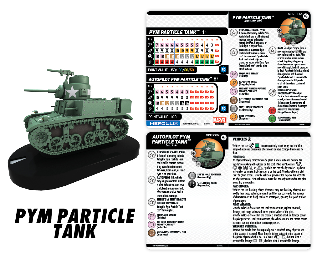 Marvel HeroClix: Pym Particle Tank Con Exclusive