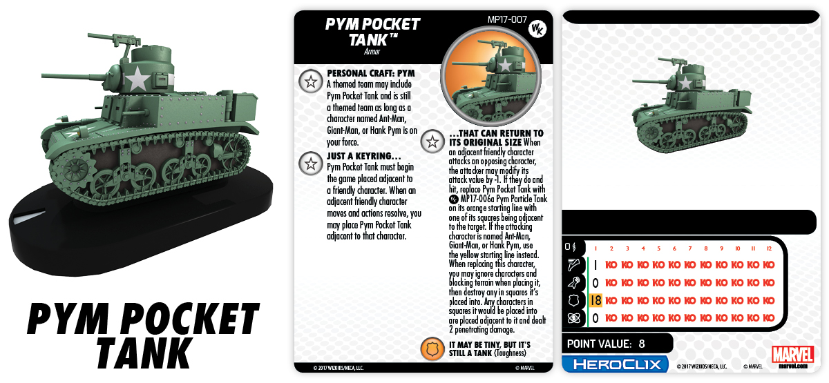 Marvel HeroClix: Pym Pocket Tank Con Exclusive