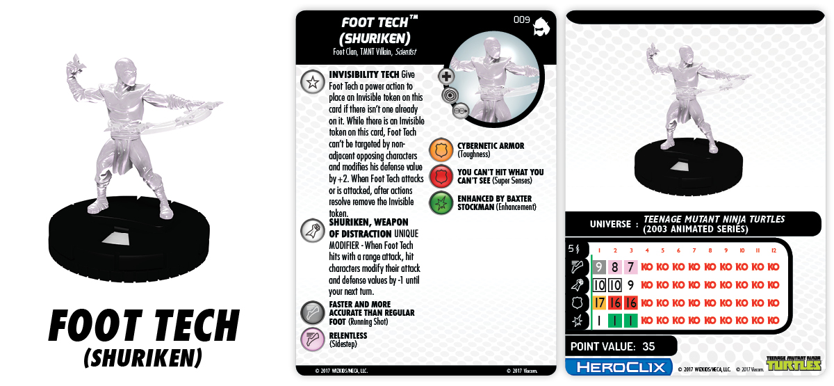 TMNT HeroClix: Shredder's Return - Foot Tech (Shuriken)