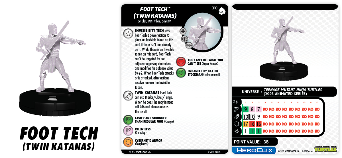 TMNT HeroClix: Shredder's Return - Foot Tech (Twin Katanas)