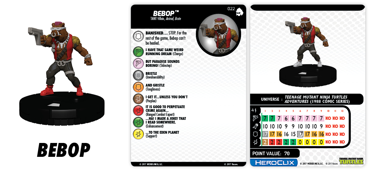 TMNT HeroClix: Shredder's Return - Bebop